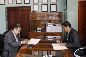 La UABJO firma convenio de colaboración con el CBTIS 26