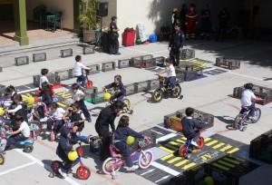 Fomentan la educación vial entre estudiantes de nivel básico