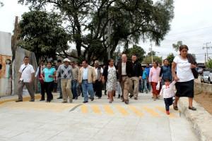 Beneficios a la salud con pavimentación de calle en San Martin Mexicapam