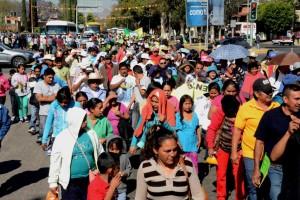 Exige FIOB conclusión de obras del ejercicio 2014, protestan en Ciudad Administrativa