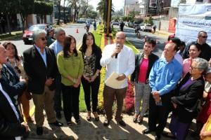 Entrega Villacaña a capitalinos obra de mejoramiento urbano de la ciudad de Oaxaca